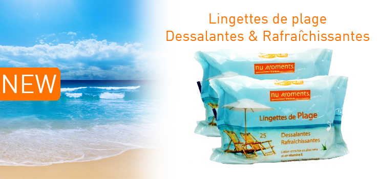 Lingettes de plage Nu Moments