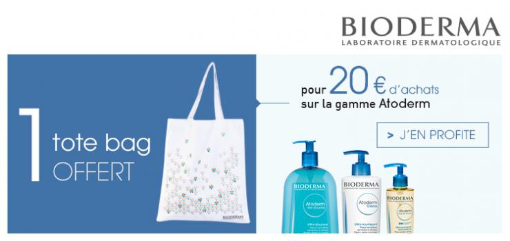 Bioderma ATODERM pour 20€ d'achat 1 tote Bag OFFER