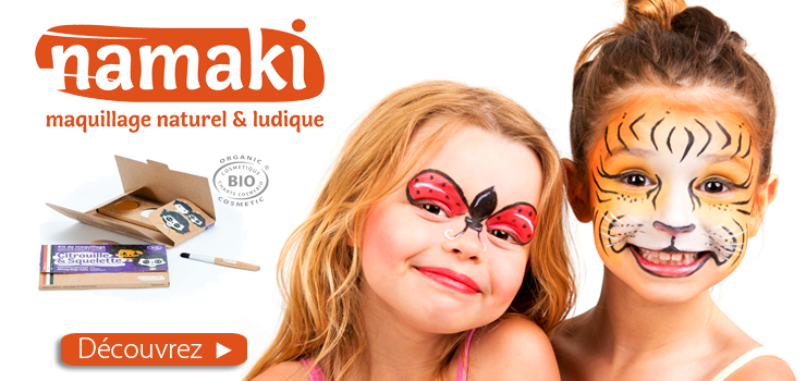 NAMAKI Maquillage enfant BIO chez hyperpara
