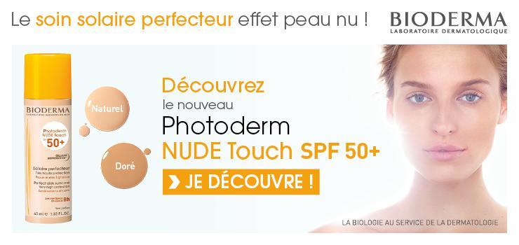 BIODERMA PHOTODERM NUDE TOUCH SPF50+ - TEINTE NATURELLE - 40 ML - BIODERMA