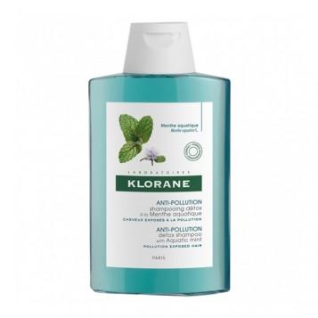 Klorane Anti-Pollution - Shampooing à la Menthe Aquatique - 200 ml 3282770202359