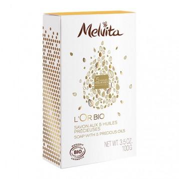 Melvita L'Or Bio - Savon aux 5 Huiles Précieuses - 100gr