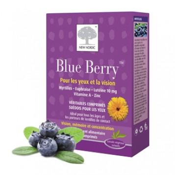 New Nordic Blue Berry 60 Comprimés Contribue à un fonctionnement oculaire optimal et au maintien d'une bonne vision