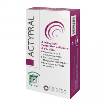 Codifra Actypral 60 Gélules Antioxydant Protection cellulaire et fertilité