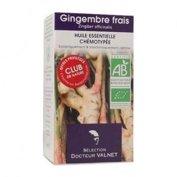 Dr Valnet Huile Essentielle Gingembre Frais BIO - 5 ml Huile essentielle chémotypée Zingibier Officinalis Digestive, fatigue