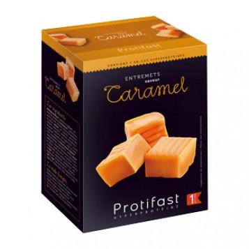 Protifast Entremets Saveur Caramel 7 sachets Phase 1 Sans gluten Préparation hyperprotéinée pauvre en glucides et en lipides