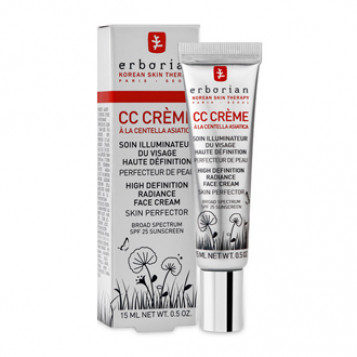 Erborian CC Crème à la Centella Asiatica SPF25 15 ml Soin illuminateur du visage haute définition Perfecteur de peau