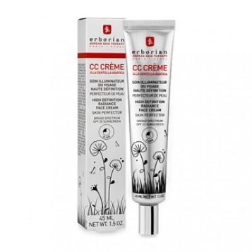 Erborian CC Crème à la Centella Asiatica Clair SPF25 45 ml Soin illuminateur du visage haute définition Perfecteur de peau