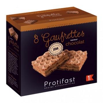 Protifast 8 Gaufrettes Hyperprotéinée Saveur Chocolat Phase 1 pour votre régime hypocaloriques Hyperpara