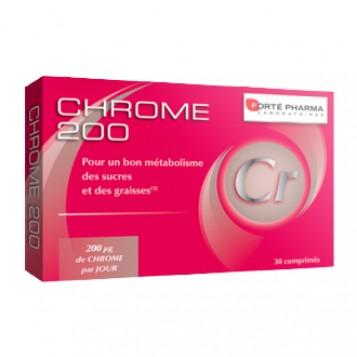 Forté Pharma Chrome 200 - 30 Comprimés Pour un bon métabolisme des sucres et des graisses 200 µg de chrome par jour