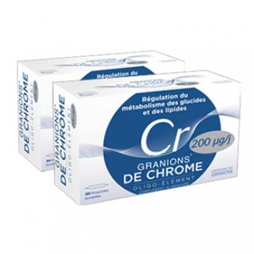 Granions de Chrome 200 µg DUO (30+30 Ampoules)