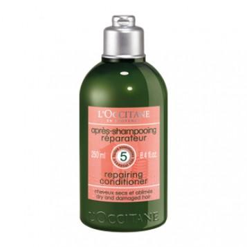 L'Occitane en Provence Aromachologie - Après-Shampooing Réparateur - 300 ml Pour cheveux secs et abîmés Redonne force et brillance 5 huiles essentielles