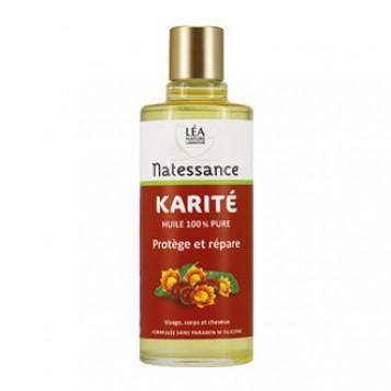 Léa Nature Natessance - Huile de Karité 100 ml Huile 100% pure Protège et répare Visage, corps et cheveux Sans paraben et sans silicone