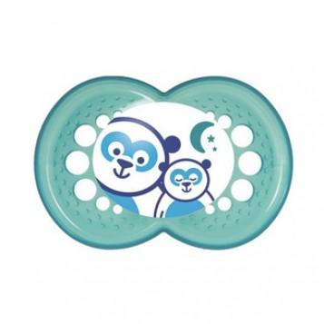 mam sucette nuit anatomique silicone 6 + mois avec boite de sterilisation et qui brille dans la nuit hyperpara