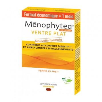 Ménophytea Silhouette - Ventre Plat 60 Comprimés Format économique = 1 mois Nouvelle Formule ! Contribue au confort digestif et aide à limiter les ballonnements Femme 45 ans +