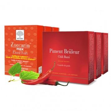 PACK MINCEUR EXTRA : 3 boites de Zuccarin Max Extra Fort + 3 boites de Piment Bruleur