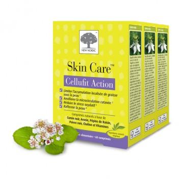 New Nordic Skin Care Cellufit Action Lot de 3 Boîtes Action anti-cellulite Limiter l'accumulation localisée de graisse sous la peau Améliorer la microcirculation cutanée Réduire le stress oxydatif Raffermir la peau