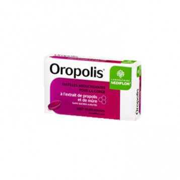 Oropolis Gorge Propolis Goût Fruits Rouges 20 Pastilles