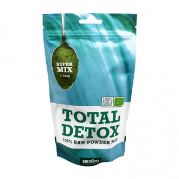 purasana super mix total detox mélange détox total 250g
