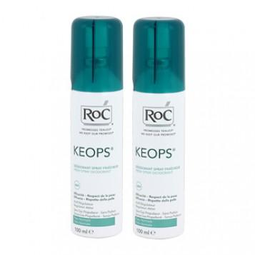 Roc Keops Déodorant Spray Fraîcheur Lot de 2 Offre Spéciale Efficacité 48 h Non parfumé