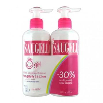 Saugella Saugella Girl 200 ml lot de 2 avec -30% sur le second soin lavant