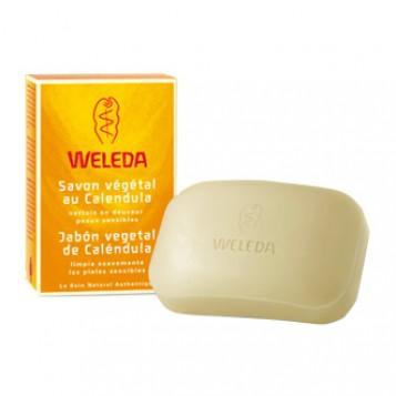 Weleda Savon Végétal au Calendula Pain-  100g - 3596206198001
