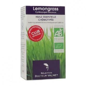 Dr Valnet Huile Essentielle Lemongrass BIO - 10 ml Huile essentielle chémotypée Cymbopogon Flexosus Digestive, calmante
