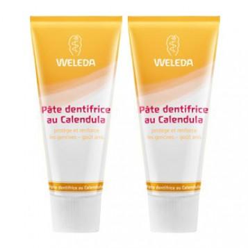 Weleda Pâte Dentifrice au Calendula DUO 2 x 75 ml Offre Duo -20% Protège et renforce les gencives Goût anis 3596202607170