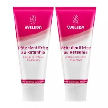 Weleda Pâte Dentifrice au Ratanhia DUO 2 x 75 ml Protège et renforce les gencives 3596202561939