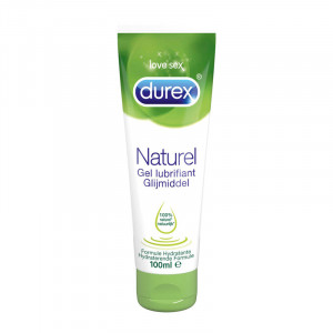Durex Gel Lubrifiant Naturel - 100 ml 100% naturel Formule hydratante 3059948001430
