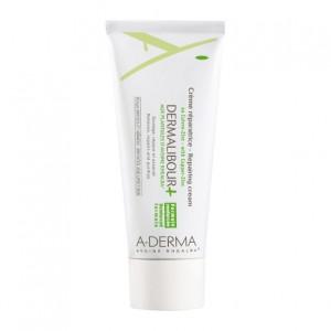 Aderma Dermalibour + - Crème Réparatrice 50 ml FORMULE RENFORCÉE Peaux irritées et abîmées Sans paraben et sans parfum 3282770014105