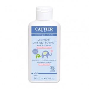 Cattier Liniment Lait Nettoyant Pour Le Change BIO - 200 ml NOUVELLE FORMULE Hypoallergénique Bébé 3283950919166