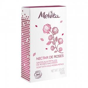 Melvita Nectar de Roses - Savon aux Pétale de Roses Sauvages - 100gr 3284410039288