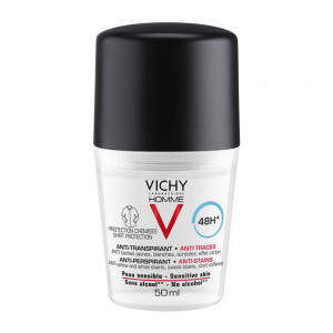 Vichy Homme Déodorant Anti-Transpirant 48H Anti-Traces - Roll-On - 50 ml 3337875585750