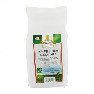 Moulin des Moines Son Fin de Blé Alimentaire - 500g Produit issu de l'agriculture biologique Aide à lutter contre le diabète et surtout le cholestérol Facilite le transit 3347431951318