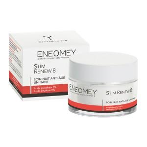 Eneomey Stim Renew 8 - 50 ml Soin nuit Anti-âge et unifiant Sans paraben 3401360263918