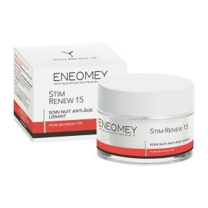 Eneomey Stim Renew 15 - 50 ml Soin nuit anti-âge Lissant Peaux mixtes Sans paraben  3401360263925