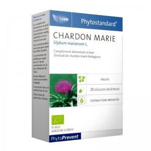 Pileje Phytostandard - Chardon Marie - 20 Gélules Végétales Silybum marianum L. A base d'extrait de chardon marie biologique 3401540313976