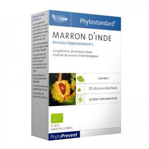 Pileje Phytostandard - Marron d'Inde - 20 Gélules Végétales Aesculus hippocastanum L. A base d'extrait de marron d'inde biologique