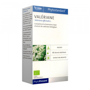 Pileje Phytostandard - Valériane - 60 Gélules Végétales Valeriana officinalis L. A base d'extrait de valériane biologique