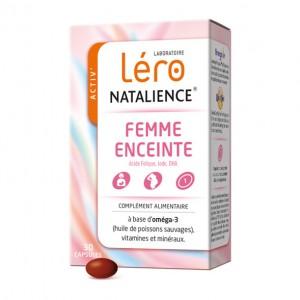 3401547937472 Léro NATALIENCE - Femme Enceinte - 90 Capsules Acide folique Iode DHA A base d'oméga-3 (huile de poissons sauvages)