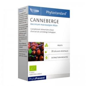 Pileje Phytostandard - Canneberge - 20 Gélules Végétales Vaccinium macrocarpon Aiton. A base d'extrait de canneberge biologique 3401551602922