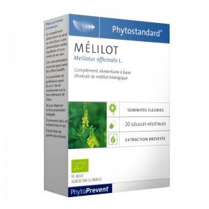 Pileje Phytostandard - Mélilot - 20 Gélules Végétales Melilotus officinalis L. A base d'extrait d'ortie biologique 3401551604063