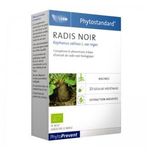 Pileje Phytostandard - Radis Noir - 20 Gélules Végétales Raphanus sativus L. var niger A base d'extrait de radis noir biologique 3401551604414