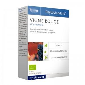Pileje Phytostandard - Vigne Rouge - 20 Gélules Végétales Vitis vinifera L. A base d'extrait de cassis biologique 3401551604704