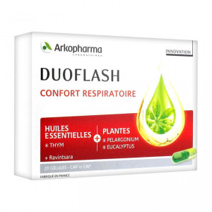 Arkopharma Duoflash - Confort Respiratoire - 20 Gélules - CAP in CAP Huile essentielles Plantes Réservé à l'adulte 3401560203486