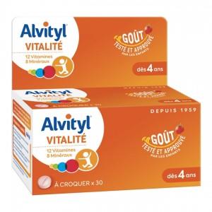 Alvityl Vitalité - 30 Comprimés à Croquer 3401560221954