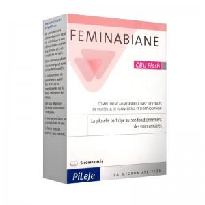 Pileje Feminabiane CBU Flash 6 Comprimés bon fonctionnement des voies urinaires.