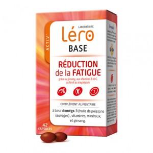 Léro Base - Réduction de la Fatigue - 42 capsules Ginseng, Vitamines B et C Fer et magnésium 1 boîte = 3 semaines