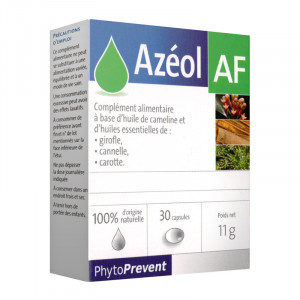 PhtyoPrevent Azéol - AF - 30 Capsules 100% d'origine naturelle A partir de 12 ans 3401577923698